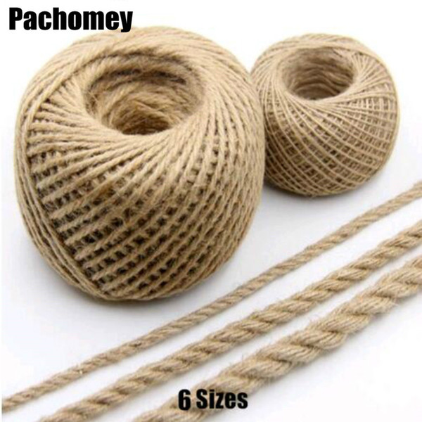 Pick 6 Diameter Natural Cords Linen Jute Cord Thread for Gift Package Weaved Crafts Handcraft PP061001