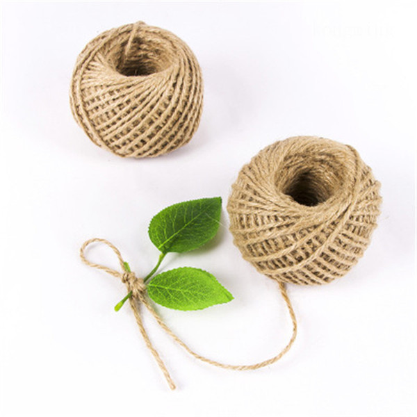 30M Natural Burlap Hessian Jute Twine Cord Rope String Gift Packing Strings Christmas Event & Party Supplies