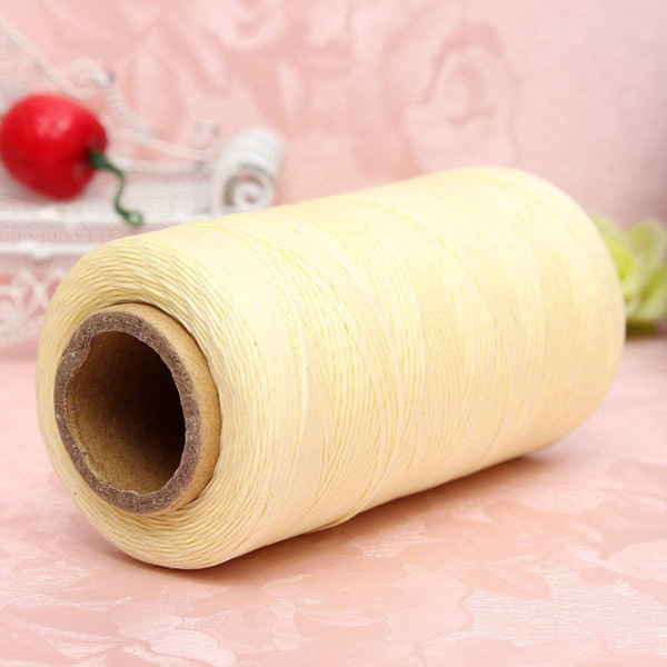 WITUSE Hot Sale! 1mm Leather Waxed Thread 260 Meters Cord for Knitting Handicraft Hand Polyester Stitching Thread Brown White