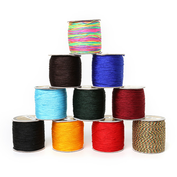 High Quality 2mm 60m/roll Korean Silk Chinese Knot Cord Bracelet Braided wire thread For DIY Tassels Beaded String