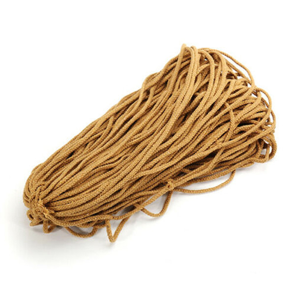 90M 5mm Natural Handmade Cotton Cord Macrame Rope DIY Wall Decoration Plant Hanger Craft String Knitting Boho Tassels 4 Colors