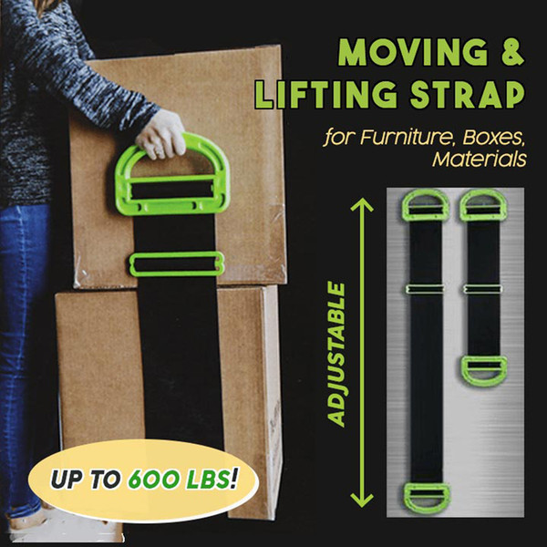 The Landle Adjustable Moving And Lifting Straps For Furniture Boxes Mattress green Straps Team Mover Easier Conveying