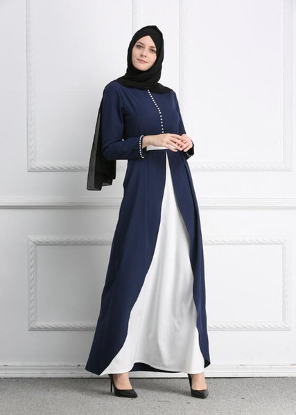 Fashion Muslim Women Adult Casual Diamond Robe Musulmane Turkish Dubai Fashion Abaya Muslim Dress Split Bottom Robes Arab Worship