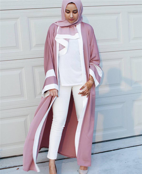 2018 Abaya Arab Clothing Women Musulman Dresse Arabic Dubai Robe Cardigan Femme Adult Fashion Eid Long Dress Thobe