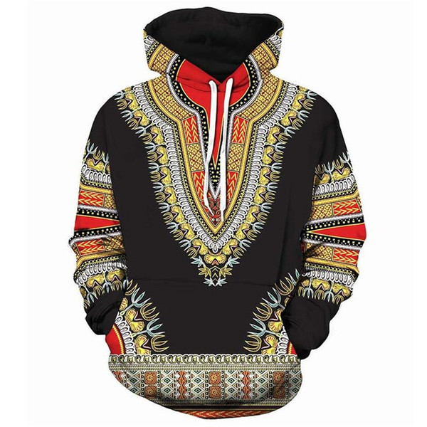Men Women Hoodies Sweatshirts Long Sleeve African 3D Printed Hooded Sweatshirt Men Hip Hop Streetwear Hoodie