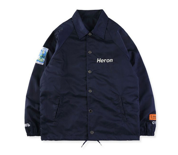HERON PRESTON Jackets Winter Men Clothing Long Sleeve Black Navy Designer Casual Jackets Coats Size S-XL