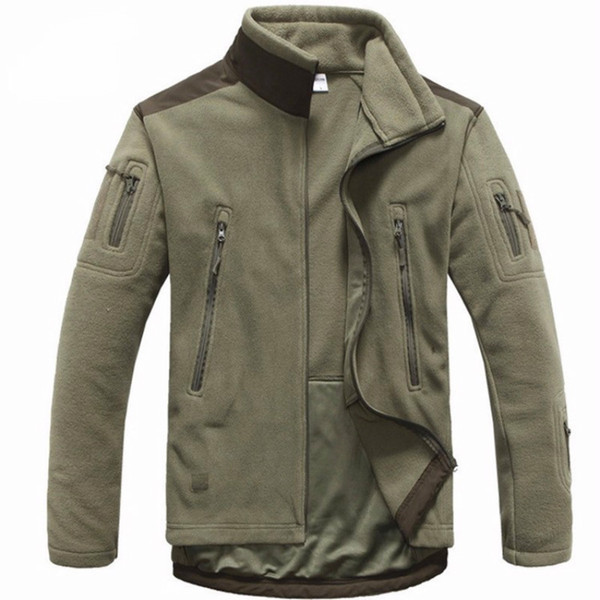 Men Tactical clothing autumn winter fleece army jacket softshell outdoor hunting clothing men softshell style jackets
