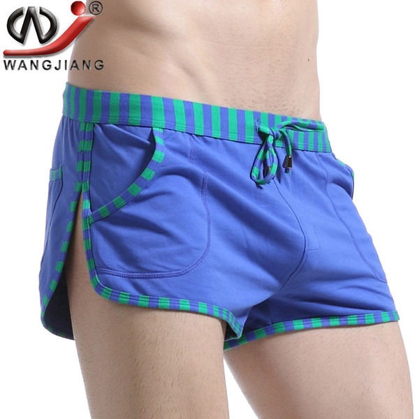 Patchwork Casual Shorts 2016 WJ Sides Of The Split High Quality Summer Style Loose Low Rise Cotton Beach Shorts