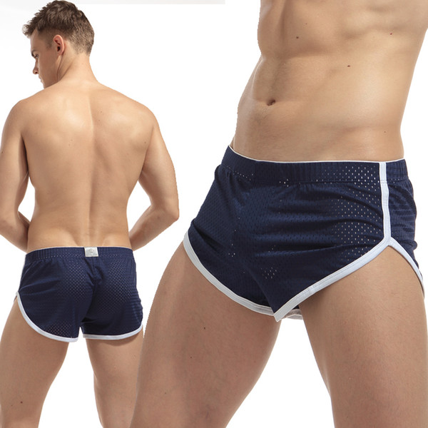 Top Quality Men mesh Sexy underwear Men Boxers Shorts Loose breathable quick dry Underpants male cuecas boxer calzoncillos