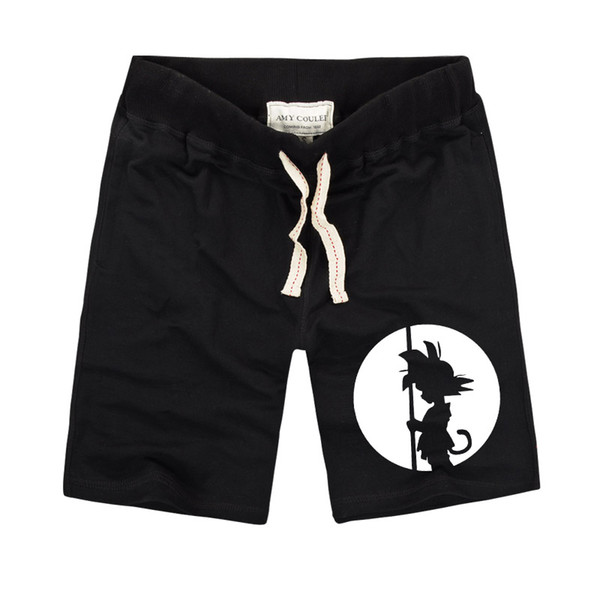 Newest Summer Men Shorts Black Shorts Z Printed Casual Mens GOKU Son High Quality Cotton kids Clothing