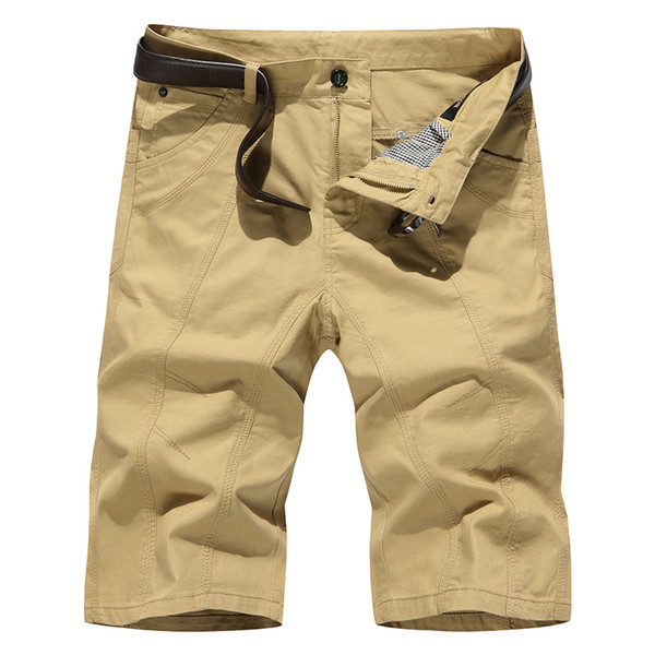 Cross-border special offer for quick sale summer cotton shorts men's casual pants beach pants large size plus fat men's cropped trousers