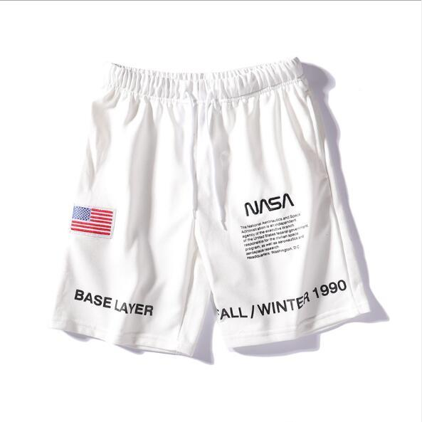 19SS NASA x Heron Preston Mens Shorts 3 Colors Fashion Embroidery Summer Shorts High Street Casual Pants