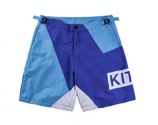 KITH Letter Printed Summer Shorts Mens Designer Hip Hop Beach Short Blue Red Men Shorts Size S-XL