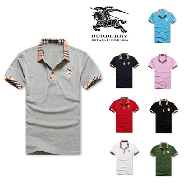 New fashion mens tshirt summer short top quality cotton POLO shirts famous designers brand slim fit t shirt men