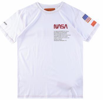 High Street Summer Tshirts Heron Preston NASA Print USA Flag Embroidery Mens Womens Streetwear Brand T-Shirts Crew Neck Short Sleeve Tshirts