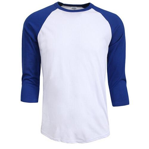 Hot sale summer autumn Men O-Neck 100% Cotton T-shirt Men's Casual Sleeve Tshirt Raglan Jersey Shirt man