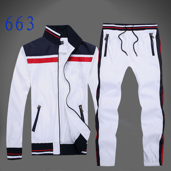 Autumn men's full zip tracksuit men sport suit white cheap men sweatshirt and pant suit hoodie and pant set sweatsuit men