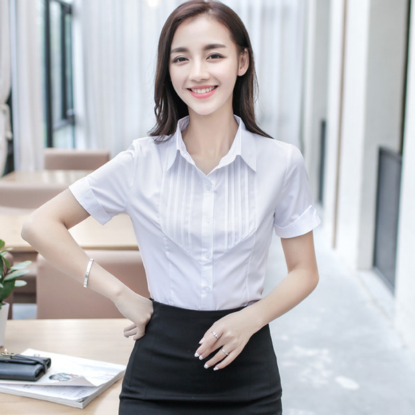 Formal Blouses Women Women Tops Long Sleeve Casual Cotton Blouse Female Work Wear White Pink Office Shirts Plus size 5XL