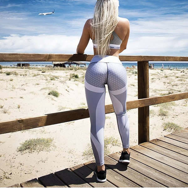 50pcs Mesh Pattern Print Leggings fitness Leggings For Women Sporting Workout Leggins Elastic Slim Pants AP193g