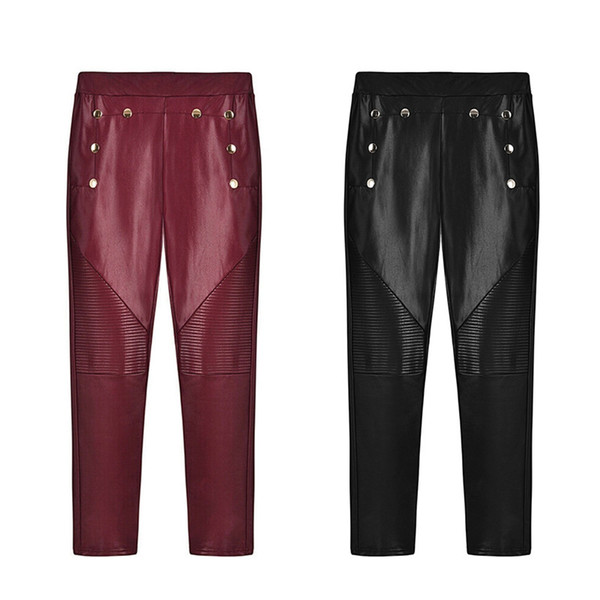 3Pcs/Lots High Quality Women's Leggings Clothing Polyester Women's Pants Apparel Casual Pants Fashion Wine Red,Black S-XL