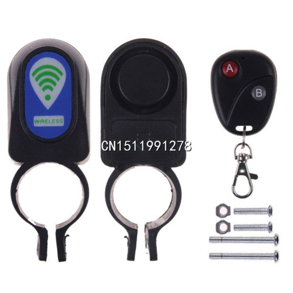 Bicycle Motorbike Moped Cycling Bike Alarm System Anti-theft Security Alarm System Remote Control car alarm clock twin bell