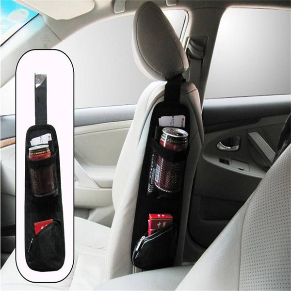 Free shipping Car Covers Waterproof Fabric Car Auto Vehicle Seat Side Back Storage Pocket Backseat Hanging Storage Bags Organizer