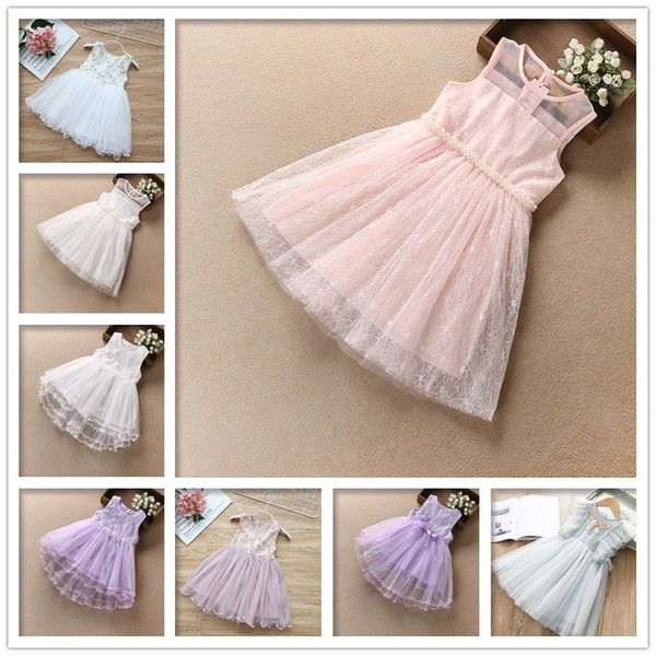 2019 New Girl Sleeveless Casua lBrief Dress Summer Princess Dress Girls Mesh Skirt Children's Clothing Multiple Styles and Colors Wholesale