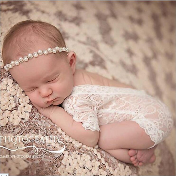 2017 Newborn Baby Lace Romper Baby Girl Cute petti Rompers Jumpsuits Infant Toddler Photo Clothing Soft Lace Bodysuits 0-3M KBR01
