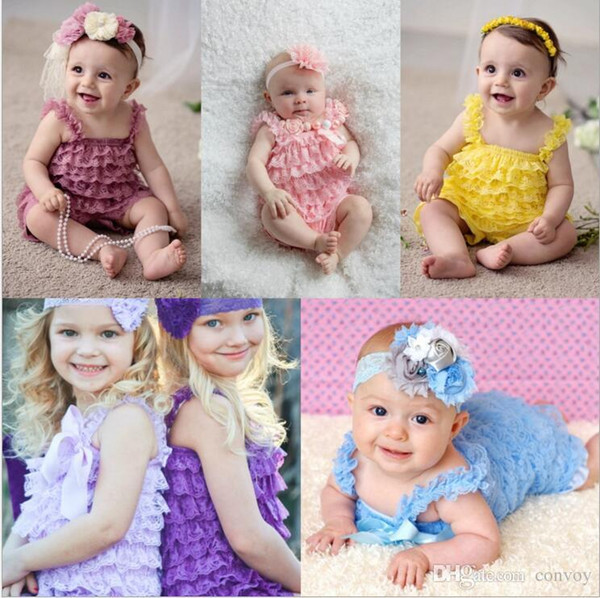 31 Color Baby Lace Rompers Girls Lace Jumpsuit Birthday Outfit Newborn Infant Toddler Ruffle Lace Romper for Baby Top Quality S-3XL KBR06