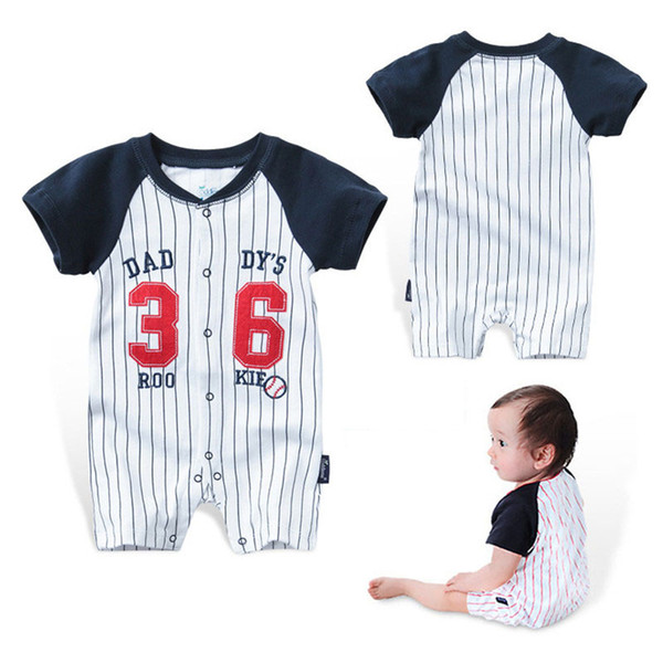 Baby Rompers Summer Boys Girls Clothes Striped Newborn Baby Jumpsuit Short-sleeved Infant Jumpsuits Clothing Set Cotton Bodysuits