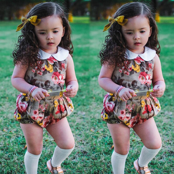 Summer New 2018 for Children Girl One Piece Jumpsuit Infant Toddler Baby Girls Cotton Romper Kids Body Suit Clothes Outfits