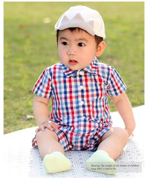 Baby Clothes 2018 Summer New Deisgn Thin Section Shirt Climbing Suits Out Clothing Newborn Short-sleeved Baby Onesies