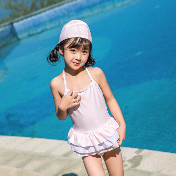 2019 Children One-piece Suits Bikini Set Kids Baby Girls Pink Sweet Swimwear Swimsuit Bathing Suit Costume Clothing