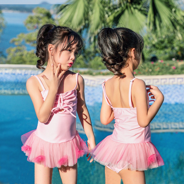 2019 Children One-piece Suits Bikini Set Kids Baby Girls Bowknot Princess Swimwear Swimsuit Bathing Suit Costume Clothing
