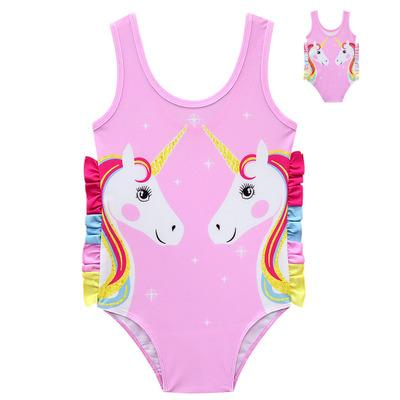 Unicorn unicorn unicorn girls cartoon cute swimwear manufacturers direct sale 8048