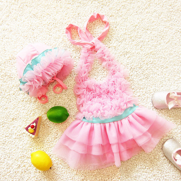 Girl Lace Bikini Kid Clothes 2018 New Summer Swimming Suits Kids Swimming Clothing Swimwear Beachwear Bikini Swimsuit Spandex
