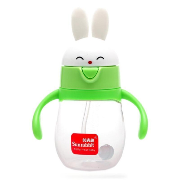 Sunrabbit baby bottle BPA Free Natural Polypropylene 260/320 ml Infant Juice Milk Water Feeding Safe learning R4