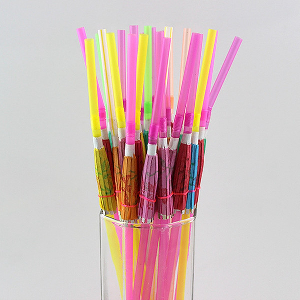 Umbrella Straws Disposable cocktail Drinking Straws for Party Bar Wine straws bar home Supplies free shipping