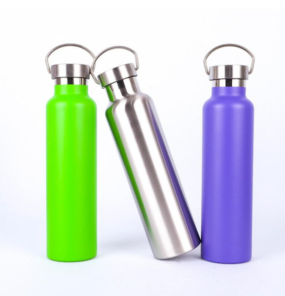 Stainless Steel Tumblers Cup Outdoor Travel Portable Water Bottle Double Wall Insulated Mugs Sports Straight Cups Travel Car Cups 12OZ LT710