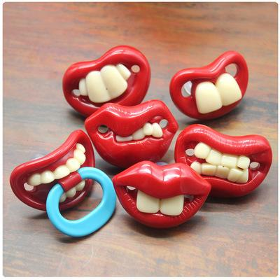 Food Grade Silicone Funny Baby Pacifiers Dummy Novelty Nipple Teethers Toddler Orthodontic Soothers Teat for Baby Pacifier Gift