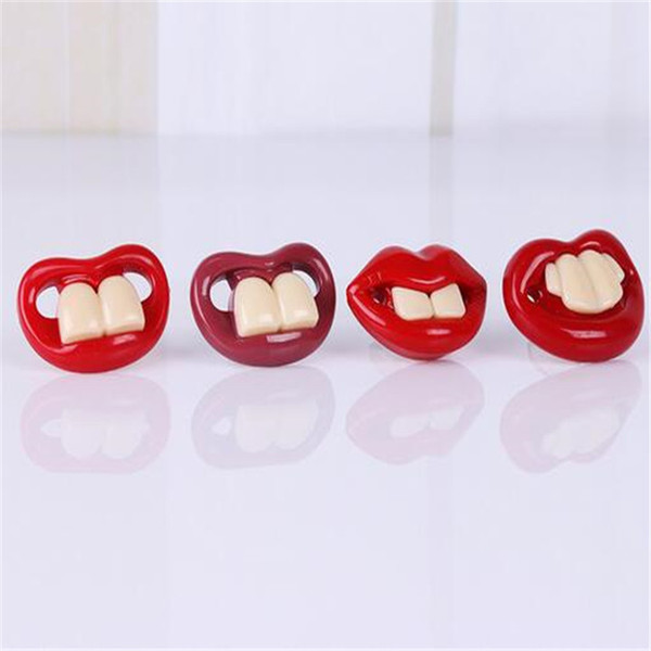 2017 hot baby pacifier funny pacifier cute teeth baby funny buck teeth boy girl baby pacifier A1707223.5