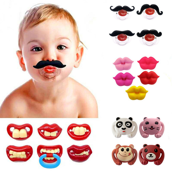 Pacifier european-style hot fashion cute baby silica gel entertainment funny cartoon image pacify pacifier