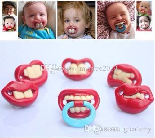 Wholesale 500pcs Safe Quality Baby Funny Pacifier Mustache Pacifier Infant Soother Gentleman bpa Baby Feeding Products DHL FEDEX Free