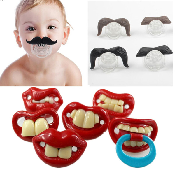 Silicone Funny Nipple Dummy Baby Soother Joke Prank Toddler Pacy Orthodontic Nipples Teether Baby Pacifier
