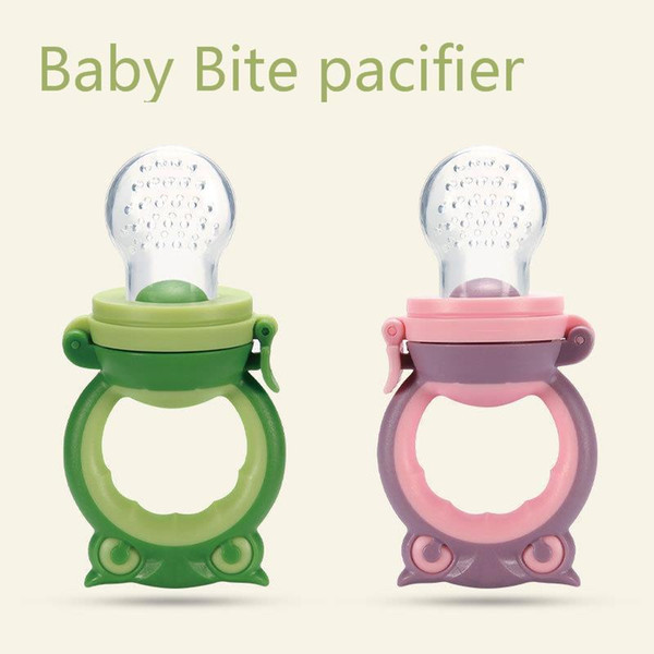 Portable Baby Silica Gel Nipple Baby Appease Bit Baby Articles Additive food Can unpick wash