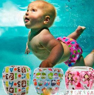 Unisex free Size Waterproof Adjustable Swim Diaper Pool Pant Swim Diaper Baby Reusable Washable Pool Diaper 18 Color