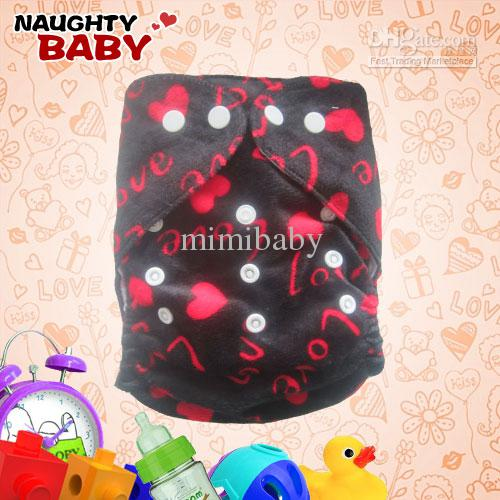 New Lovely Naughtybaby cloth diaper reuseable nappy cover and insert M1 free shipping