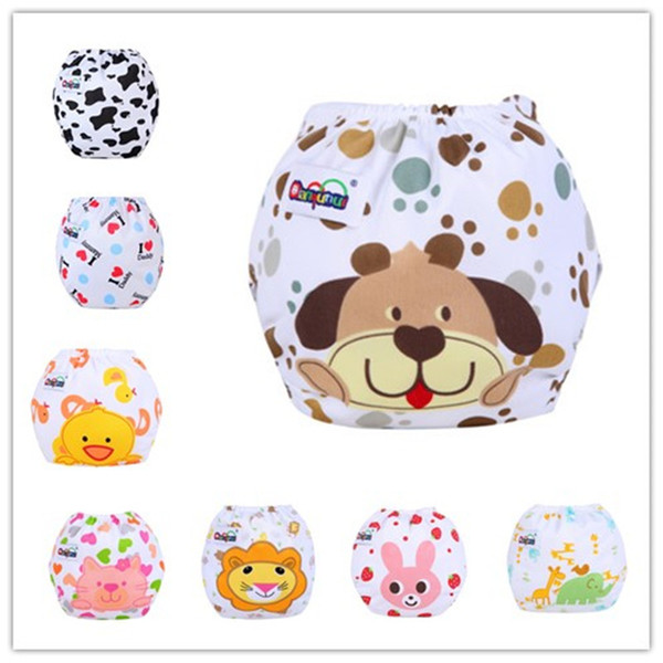 Mix 5 Pieces Wholesale Baby Cloth Nappies With Inserts Reusable Adjustable Diaper Cover Washable
