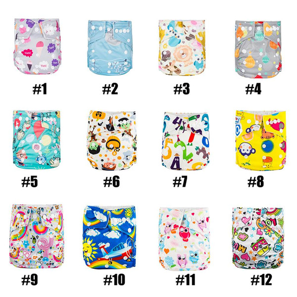 BABYLAND ( pack 22 pcs ) 100% polyester waterproof PUL pocket all in 2 baby cloth Diapers with microfiber Inserts and diaper bag
