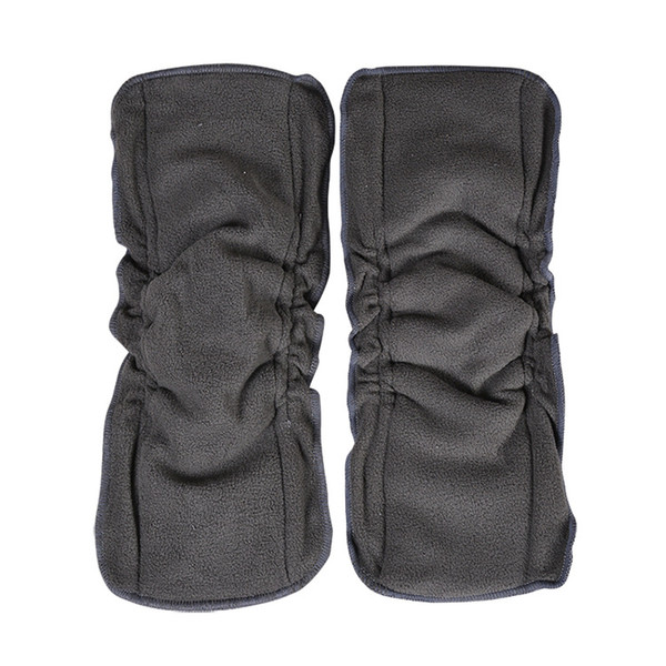 Cute Baby Charcoal Bamboo 5pcs 5 Layers(3+2) Reusable Baby Cloth Diaper Pads Nappies for Kids M1422